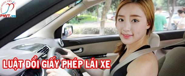 luật đổi bằng lái xe